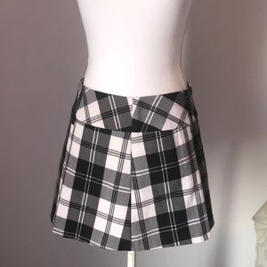 Candies Black & White Plaid Mini Skirt Jr Size 11